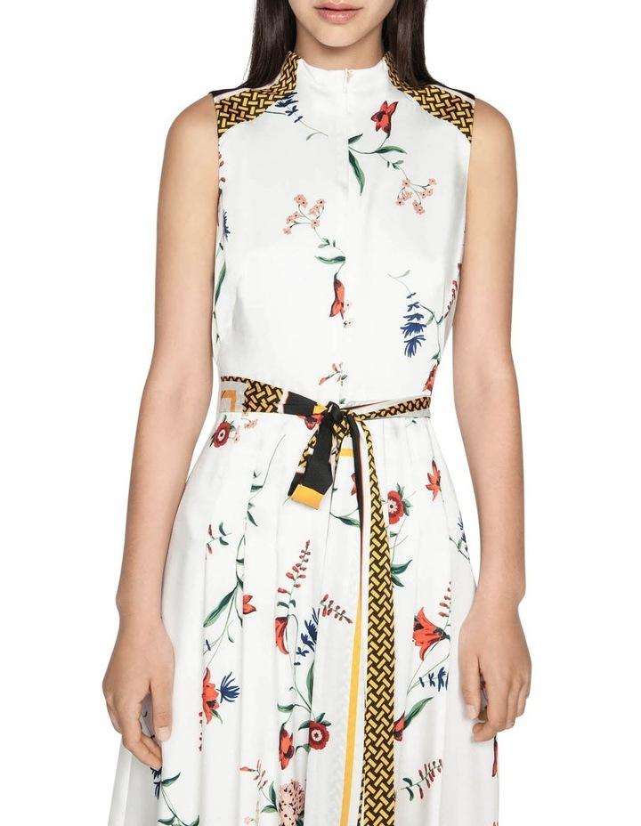 Scarf Print Midi Dress image 2