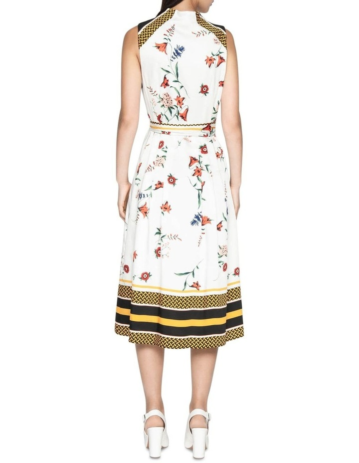 Scarf Print Midi Dress image 3