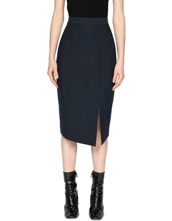 Ink Textured Crepe Skirt image 2