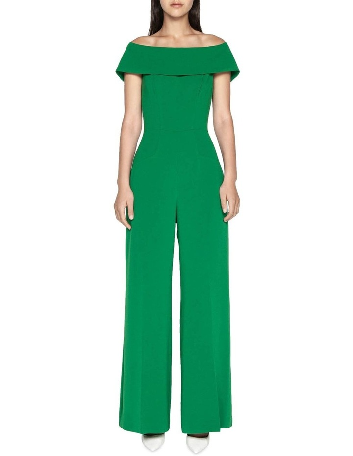 Crepe Off The Shoulder Jumpsuit image 1