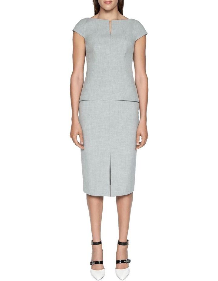 Melange Split Front Pencil Skirt image 1