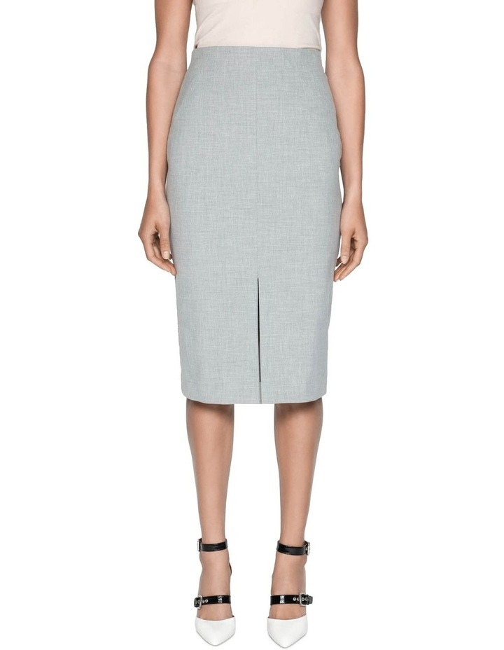 Melange Split Front Pencil Skirt image 2