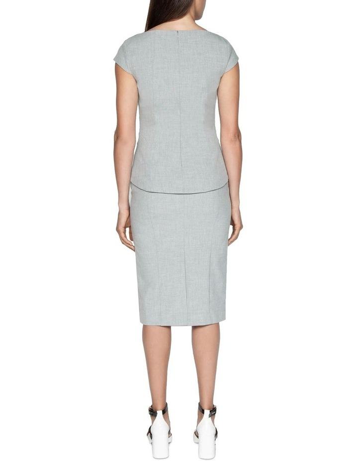 Melange Split Front Pencil Skirt image 3