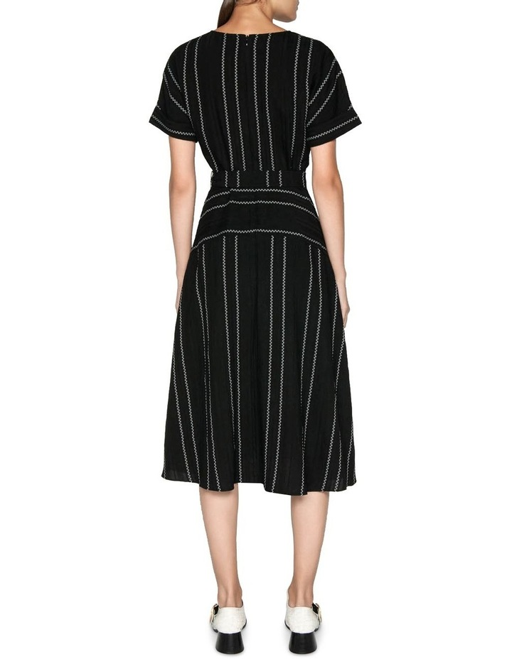 Jacquard Stripe Belted Midi Dress image 3