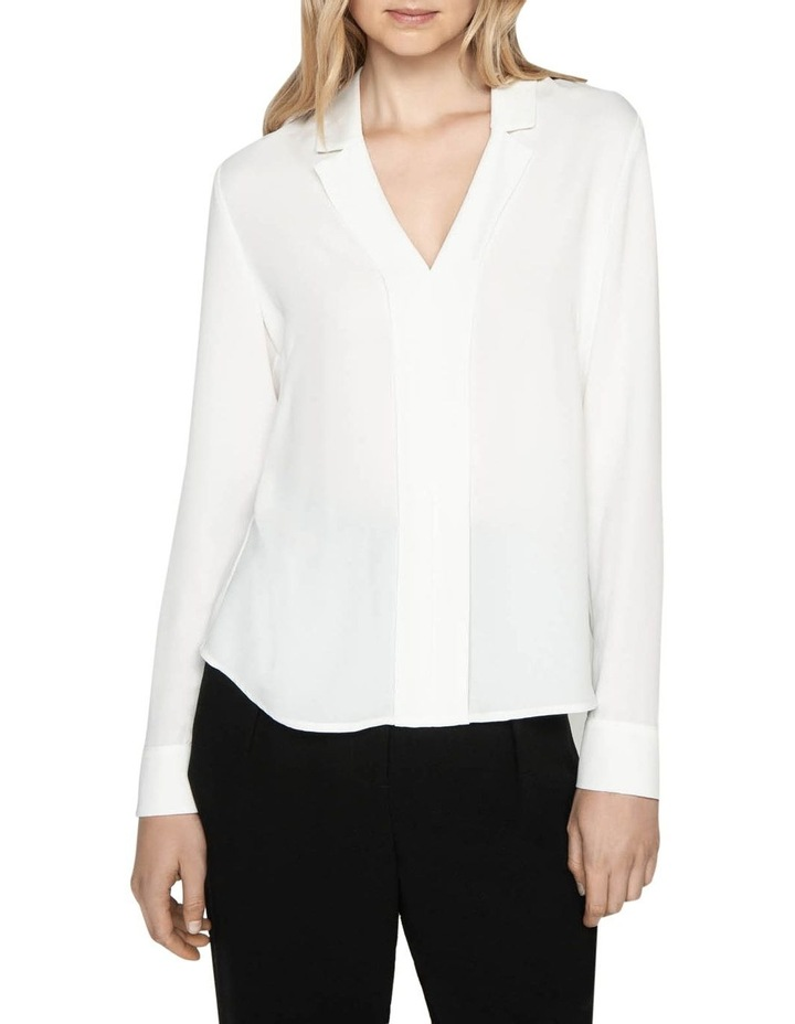 Crepe Notched Collar Top image 2