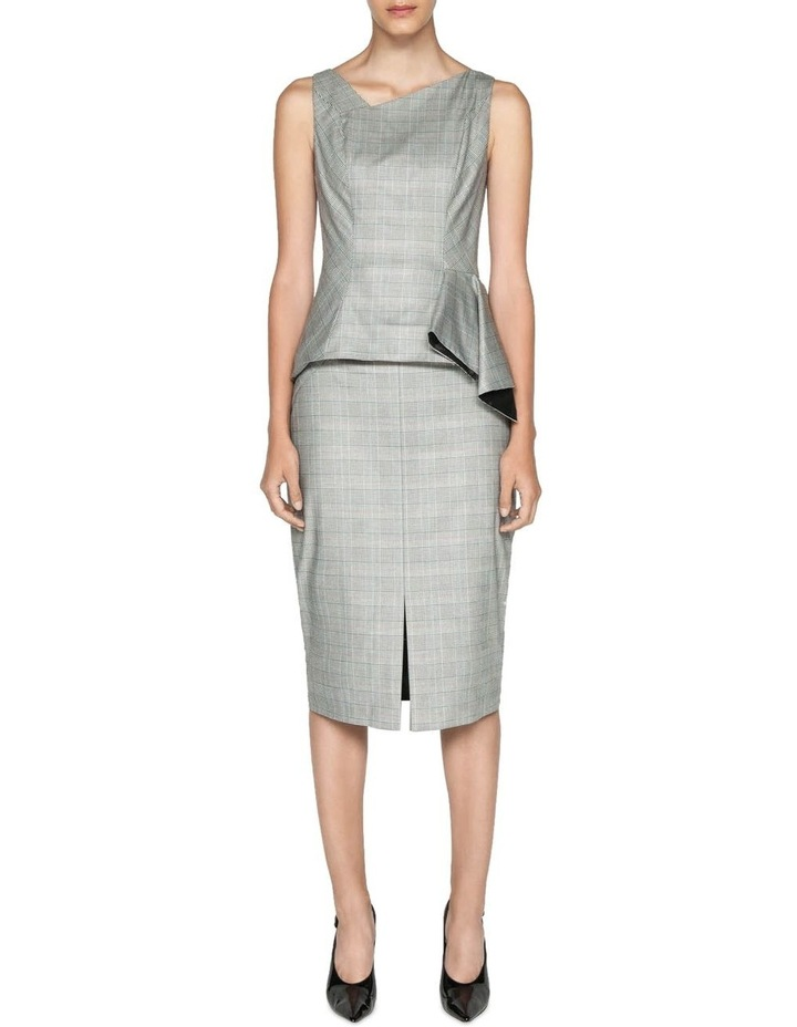 Highlight Check Pencil Skirt image 1