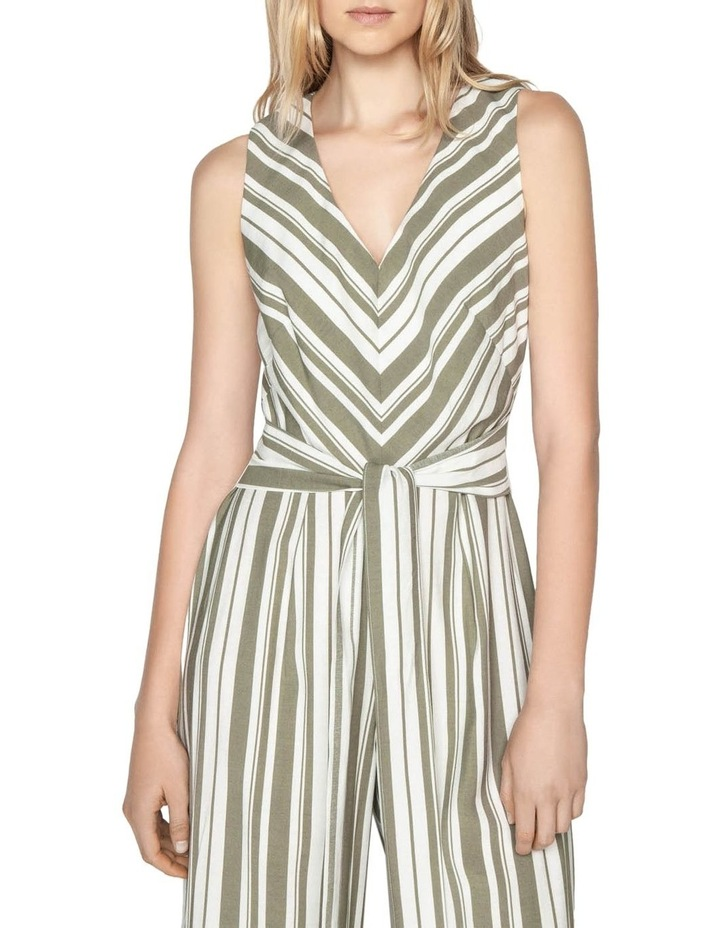 Olive Stripe Jumpsuit image 2