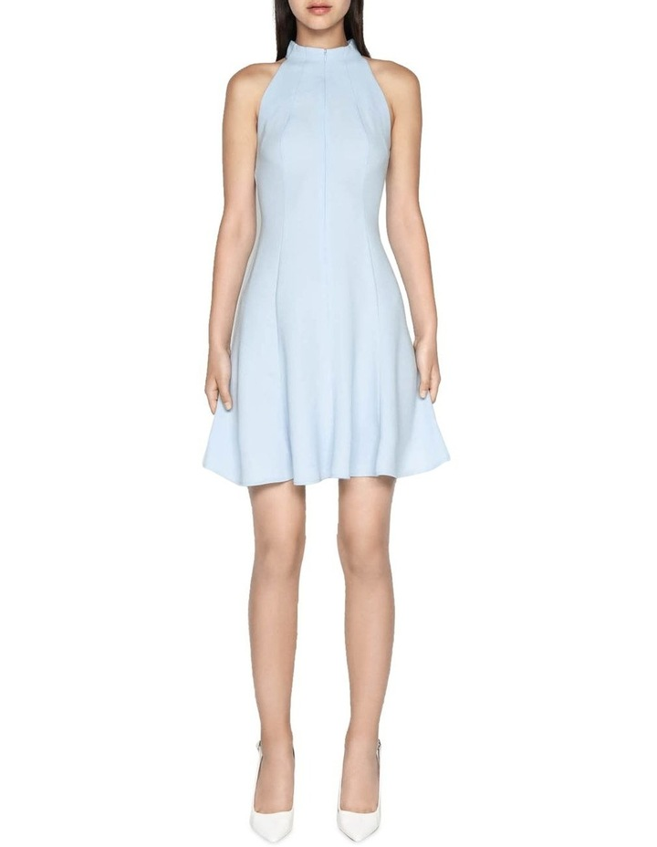Crepe Racer Fit and Flare Dress image 1