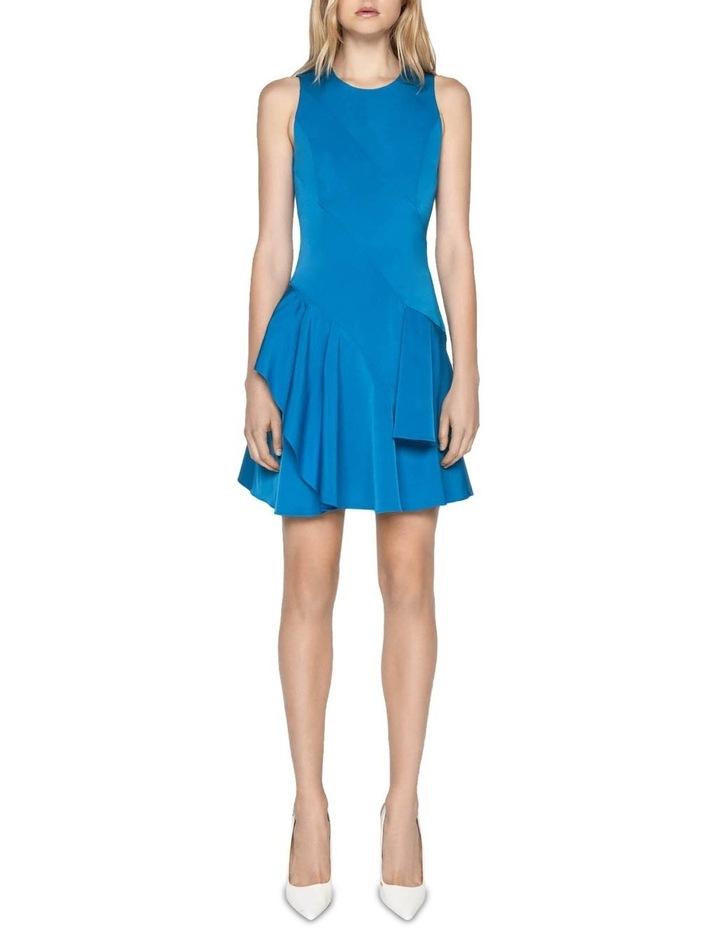 Faille Asymmetric Frill Hem Dress image 1