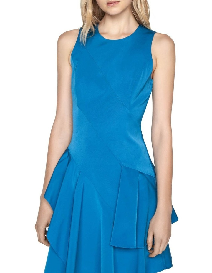 Faille Asymmetric Frill Hem Dress image 2