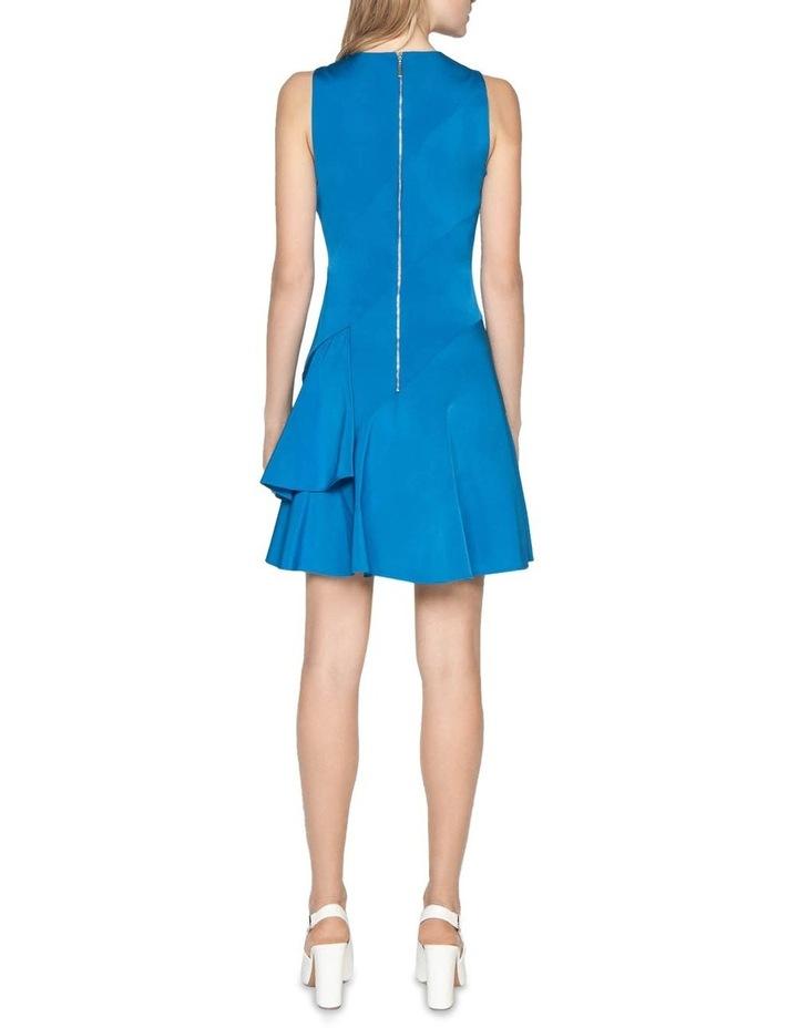 Faille Asymmetric Frill Hem Dress image 3
