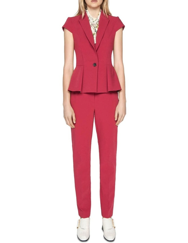 Berry Double Weave Slim Pant image 1
