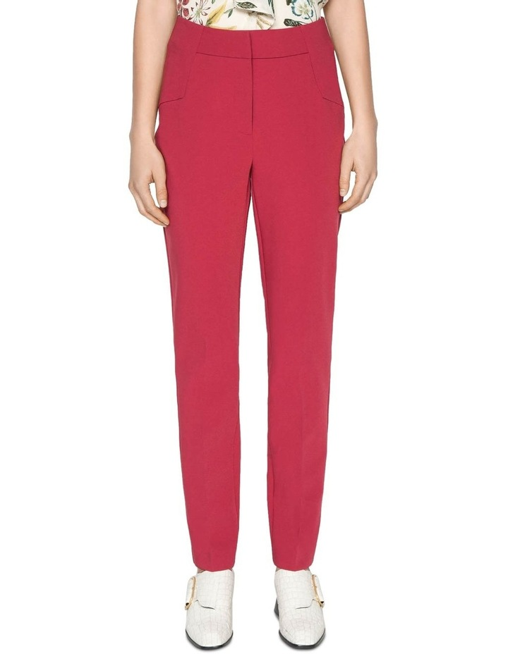 Berry Double Weave Slim Pant image 2