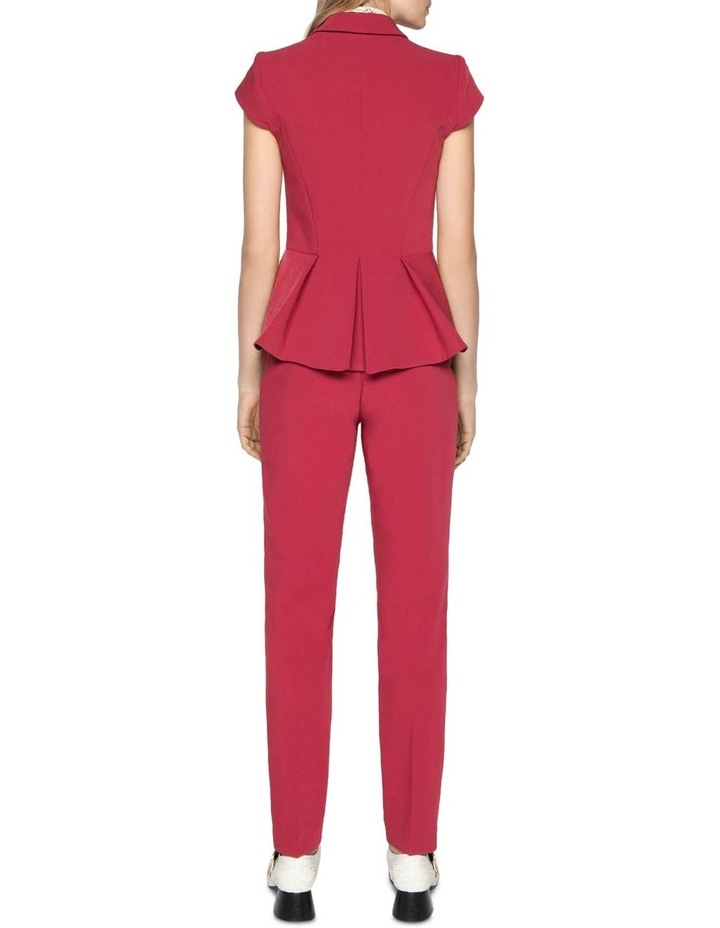 Berry Double Weave Slim Pant image 3