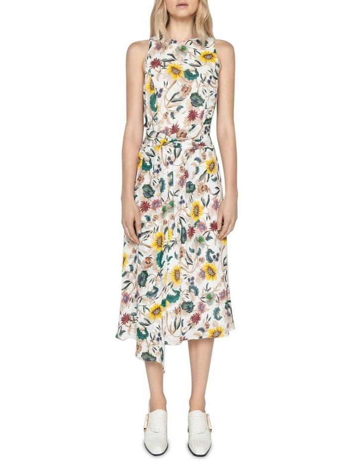 Vivid Floral Twist Front Dress image 1
