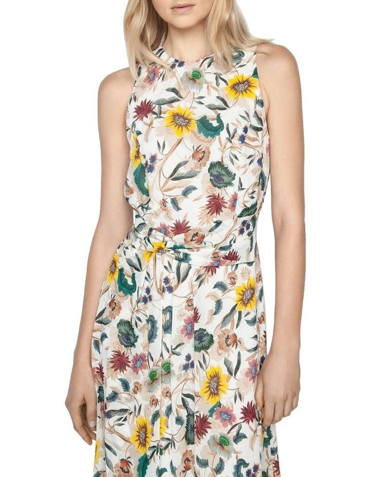 Vivid Floral Twist Front Dress image 2