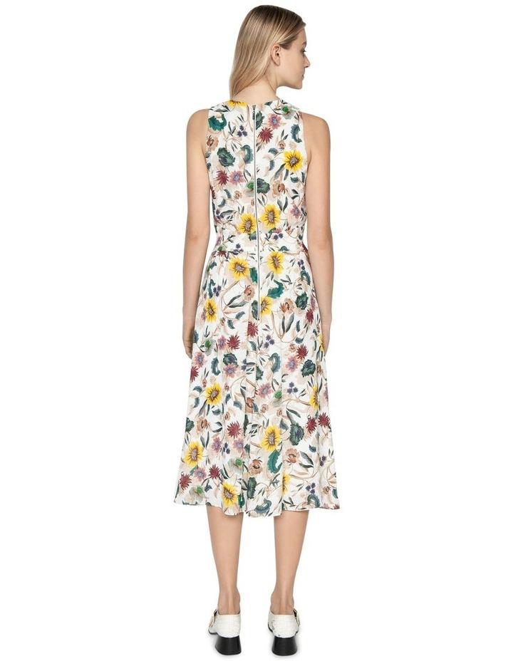Vivid Floral Twist Front Dress image 3