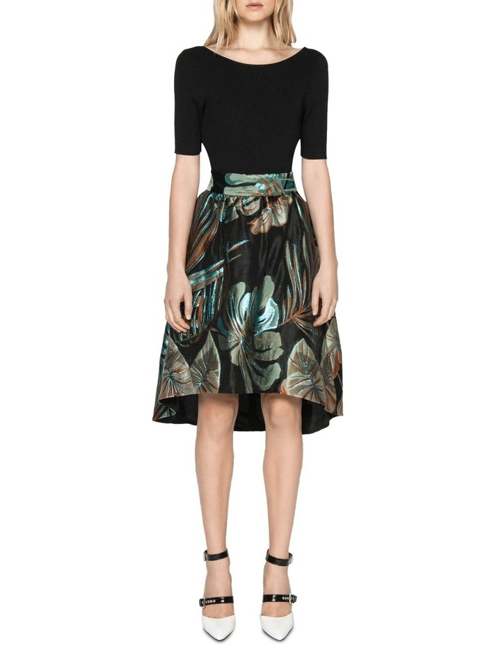 Metallic Palm Jacquard Skirt by Cue
