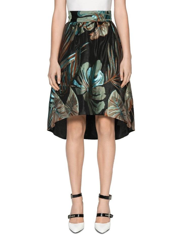 Metallic Palm Jacquard Skirt image 2
