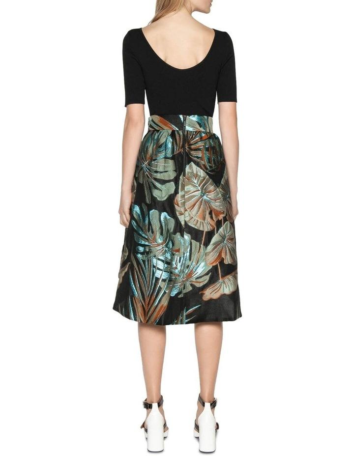 Metallic Palm Jacquard Skirt image 3
