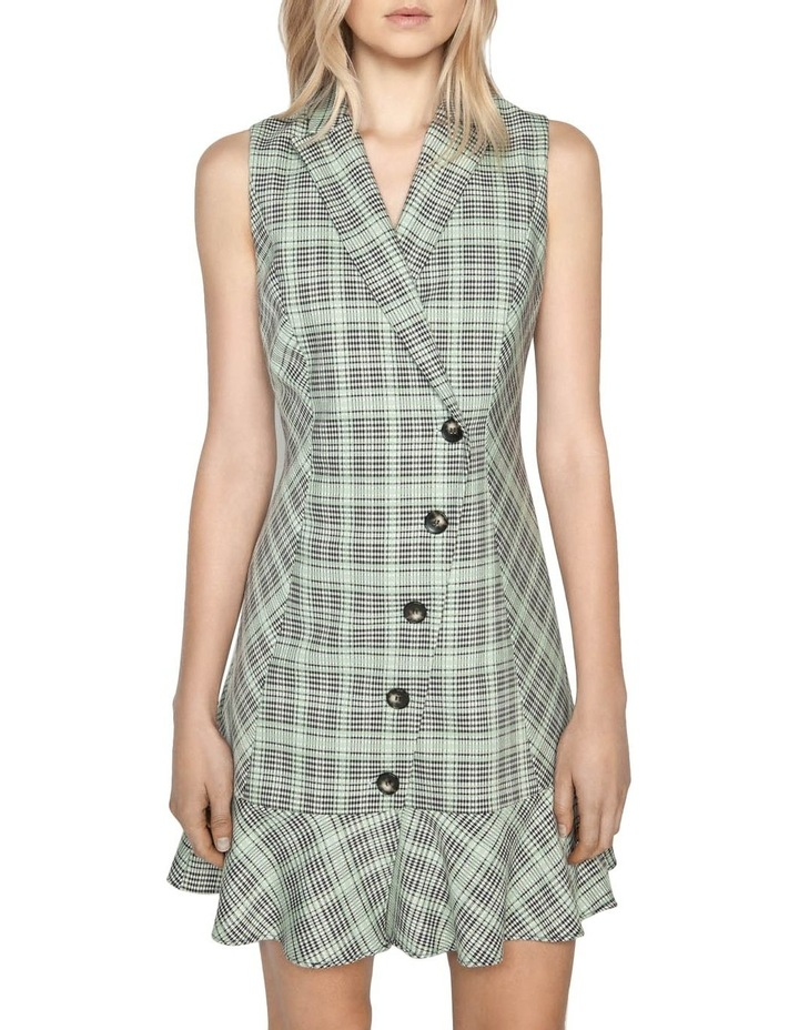 Check Button Front Dress image 2