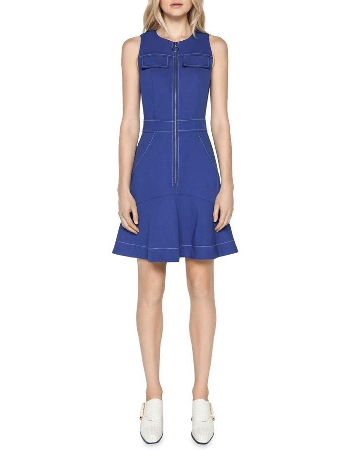 Cobalt Zip Front Dress image 1