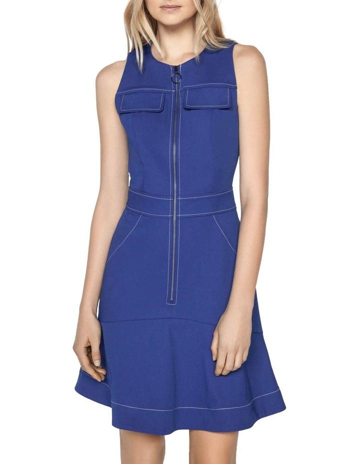 Cobalt Zip Front Dress image 2