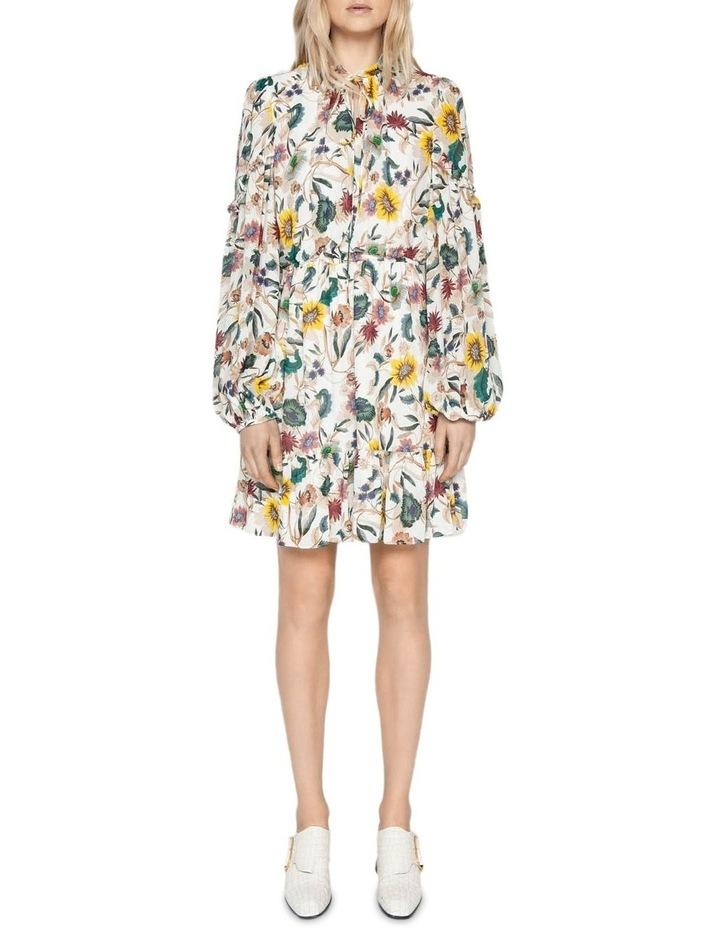 Vivid Floral Frill Dress image 1