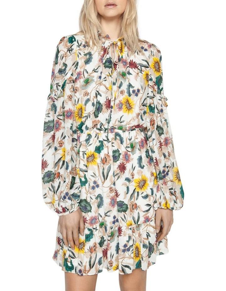 Vivid Floral Frill Dress image 2