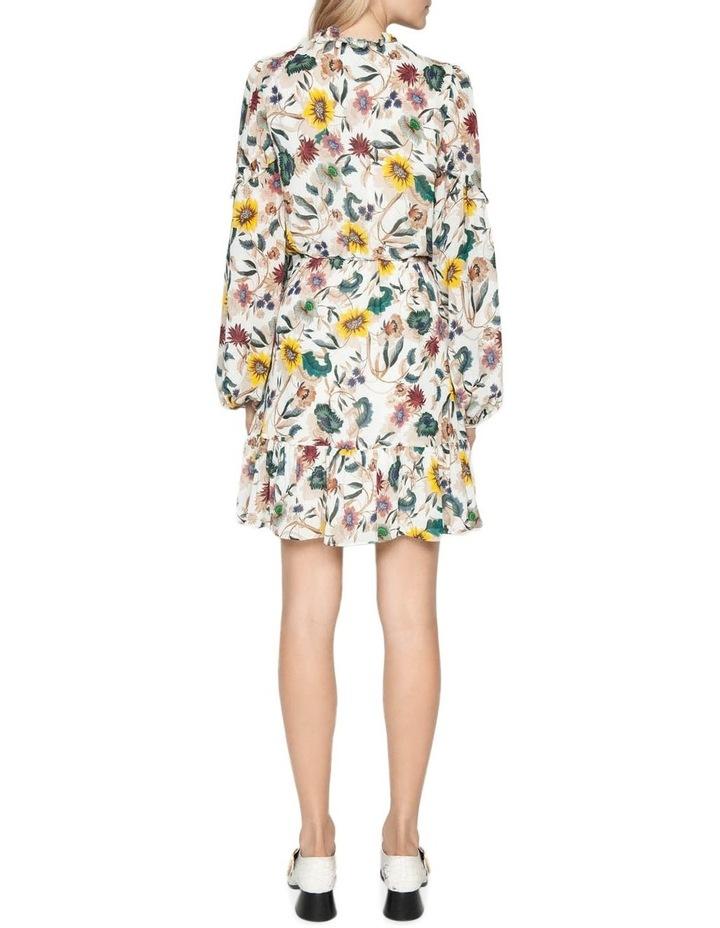Vivid Floral Frill Dress image 3