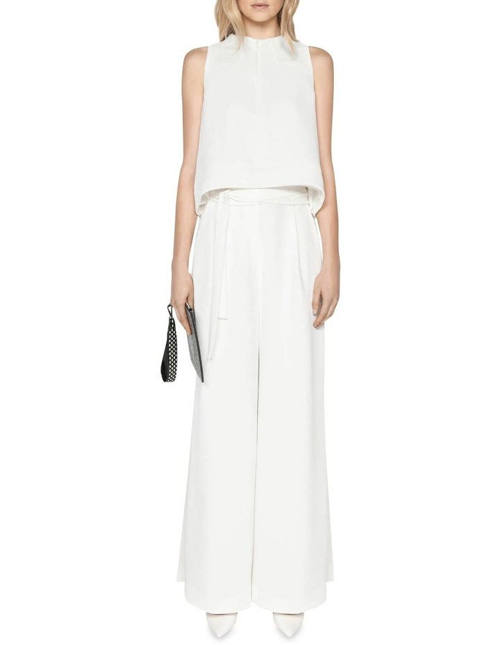 Belted Ivory Wide Leg Pant image 1