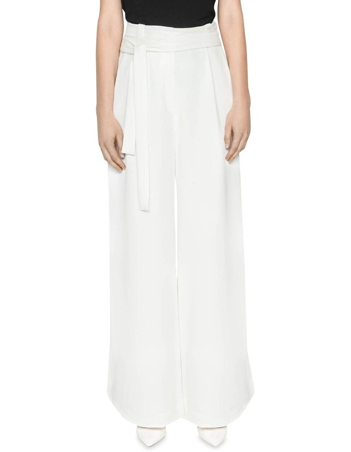 Belted Ivory Wide Leg Pant image 2