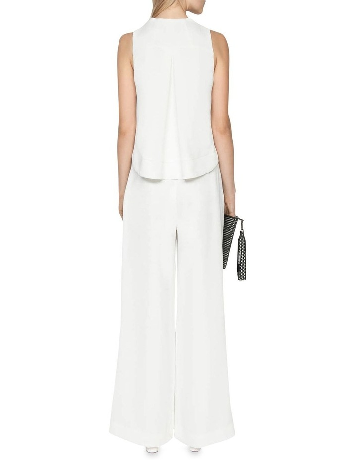 Belted Ivory Wide Leg Pant image 3