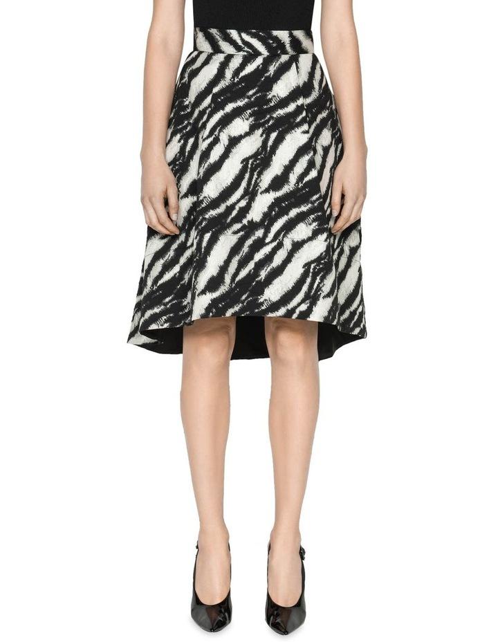 Tiger Stripe Jacquard Skirt image 2