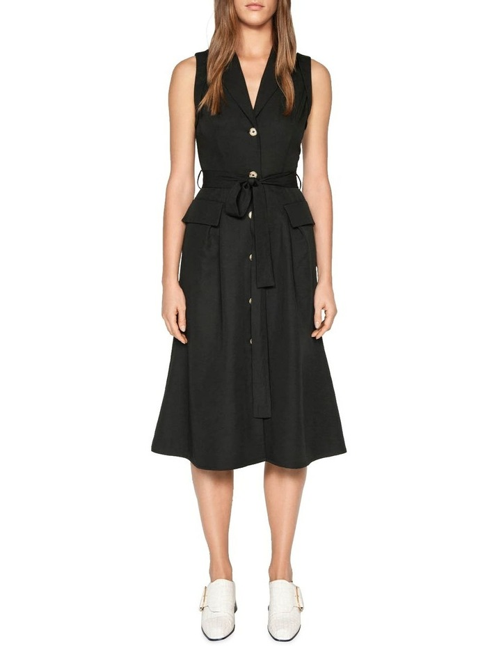 Belted Button Front Dress image 1