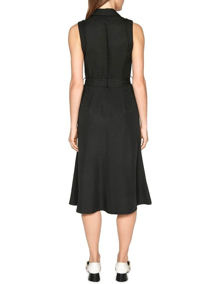 Belted Button Front Dress image 3