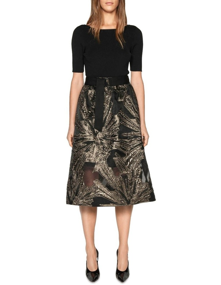 Metallic Jacquard Skirt image 1