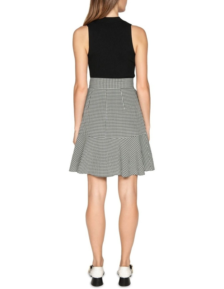 Crinkle Gingham Tie Waist Skirt image 3