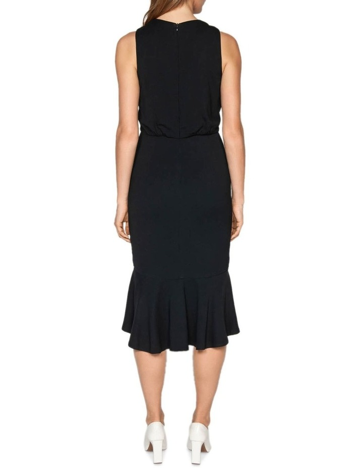 Fluted Hem Midi Dress image 3