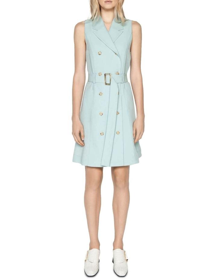 Linen Blend Trench Dress image 1