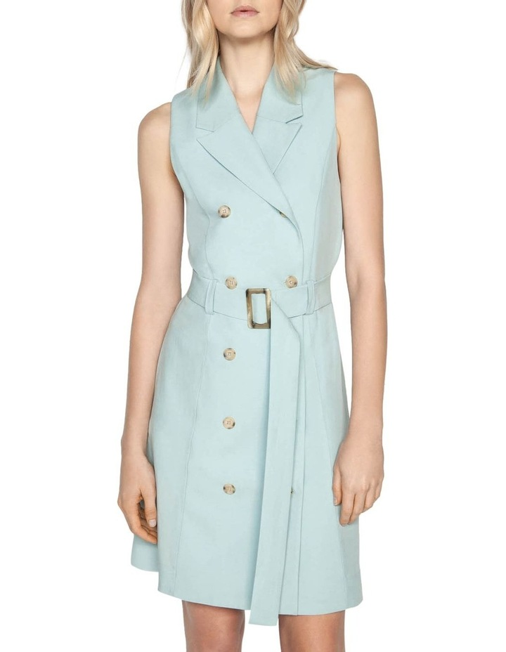 Linen Blend Trench Dress image 2