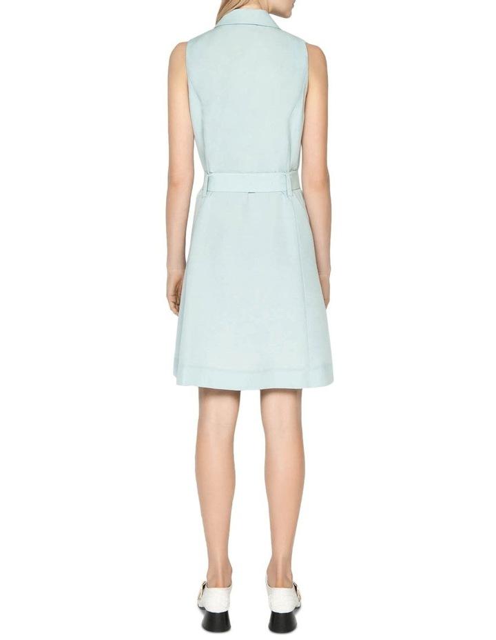 Linen Blend Trench Dress image 3