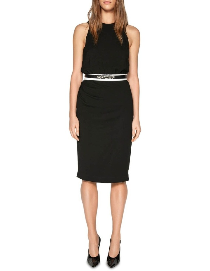 Draped Tuck Pencil Dress image 1