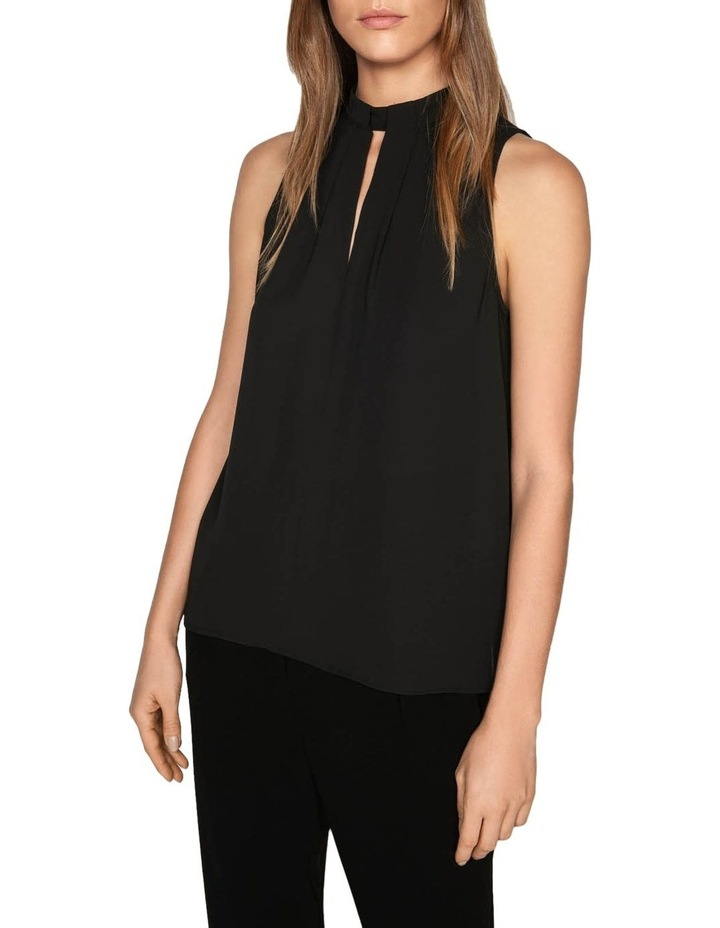 Sleeveless Tuck Neck Top image 2