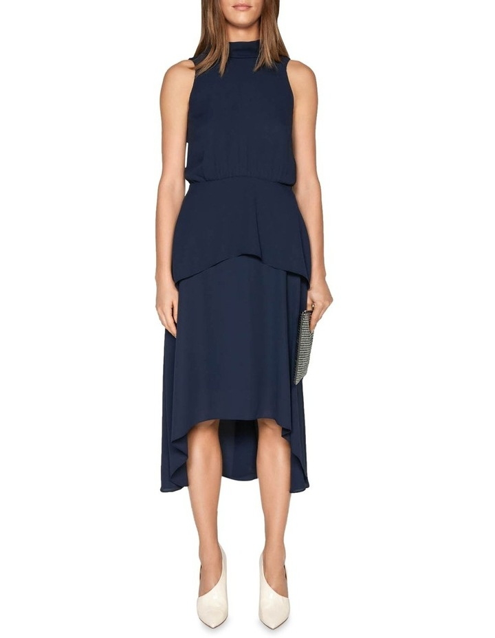 Draped Tie Back Midi Dress image 1