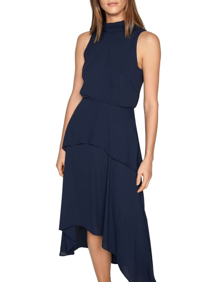 Draped Tie Back Midi Dress image 2