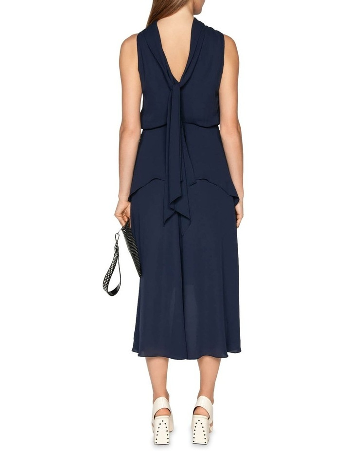 Draped Tie Back Midi Dress image 3