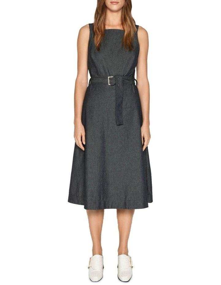 Belted Soft Denim Dress image 1