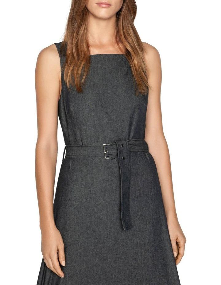 Belted Soft Denim Dress image 2
