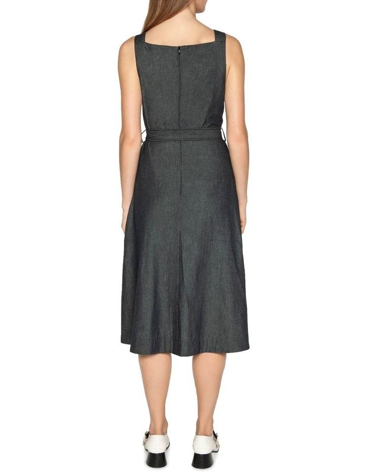 Belted Soft Denim Dress image 3